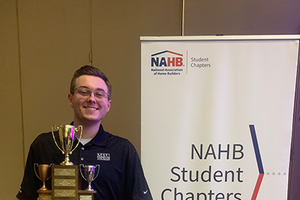 MSU student receives Outstanding Student Award from the National Association of Home Builders' Student Chapter