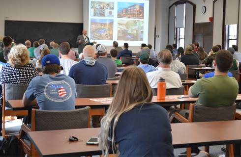 Photo of audience at 2017 Industry Seminar Series.