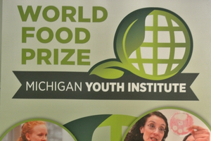 Student Neha Middela at Youth World Food Prize.