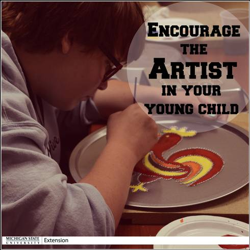 Creating art is a valuable part of early childhood development!