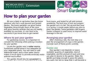 How to plan your garden tip sheet - MSU Extension