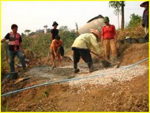 Water Tank Installation project led by Andy Northrop in Doi Mae Salong, Chiang Mai, Thailand with Akha ethnic community. l MSU Extension