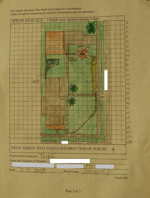 An example of a site, or plot, plan prepared by an eight-year-old for mom for a zoning permit application. This site plan is framed and on the office wall in the municipality zoning administrators office.