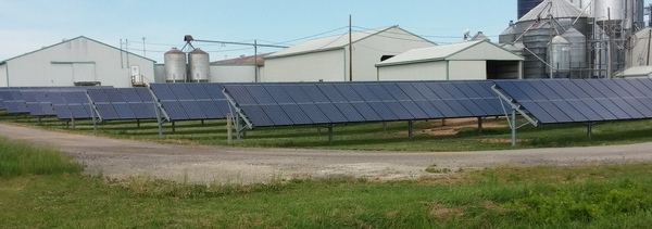 Solar array at Langeland Farms. Courtesy of Charles Gould.