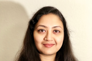 Dr. Debalina Saha enjoys conducting applied research and interacting with her students