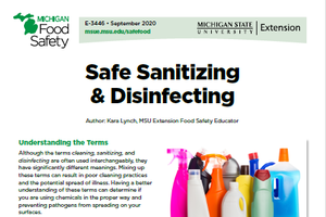 Safe Sanitizing and Disinfecting