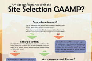 New provisions of the Site Selection GAAMP for those with 50 animal units or less. Photo credit: Michigan Department of Agriculture and Rural Development l MSU Extension