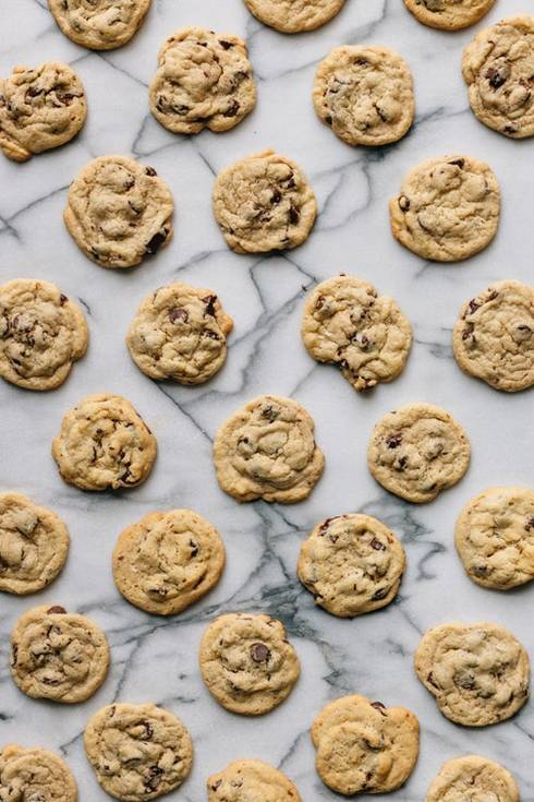 Chocolate Chip Cookies on Marble surface