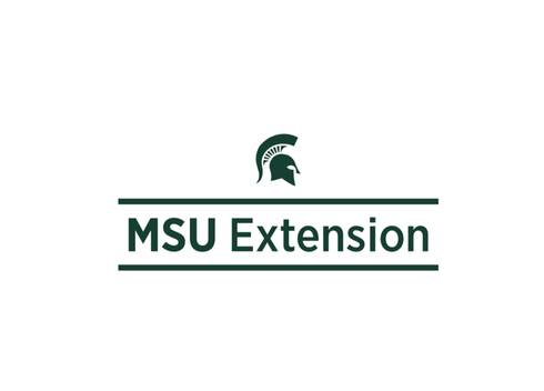Spartan helmet with written under the helmet, MSU Extension