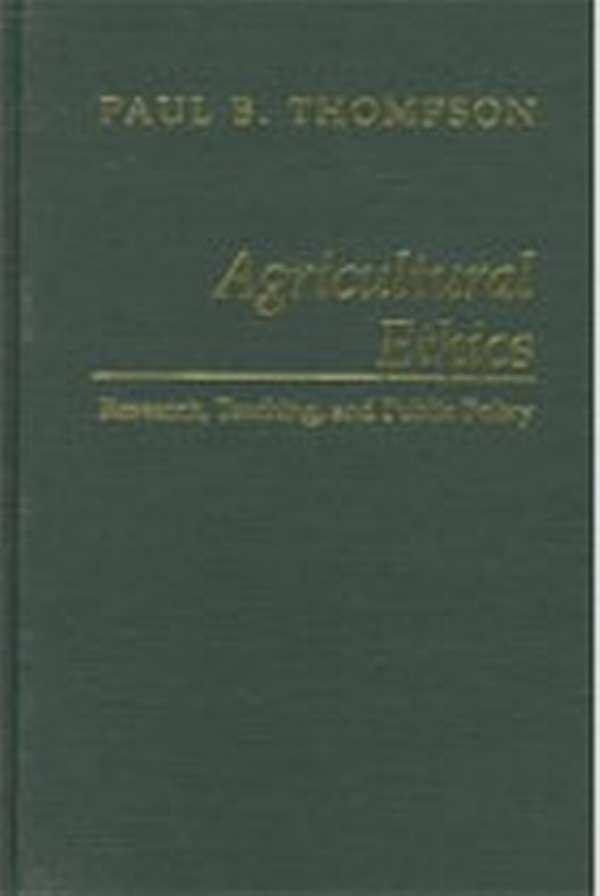 Agricultural Ethics book cover.