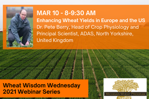 Pete Berry will present at Wheat Wisdom Webinar Series on March 10