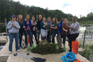 Summer vacation finds teachers in school exploring Great Lakes watersheds on Lake Huron (Part 2)