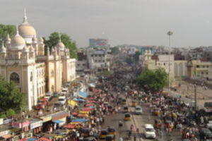 Photo of Hyderabad, India, one of the seven participating metropolitan regions. Courtesy of wikitravel.org.