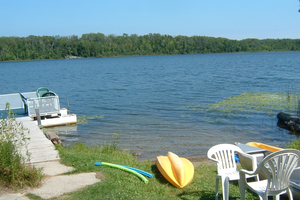 Swimming beach on a private lakefront property. Photo credit: Jane Herbert