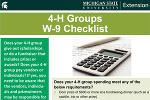When will you use a W-9 as a 4-H group?