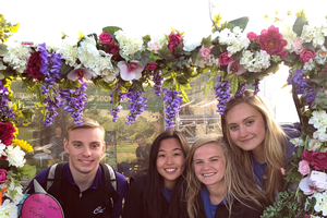 Agricultural operations freshman Hannah Harless (first student from the left) is shown with other Michigan State University students at the 2018 Balmoral Show. The event is Northern Ireland's largest agri-food event and takes place in Balmoral Park, Lisburn, each May.