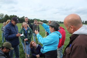 Participants outside at Dairy Grazing School
