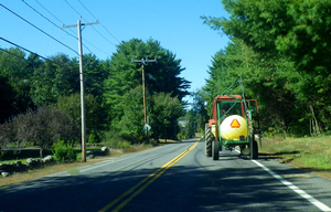 Motorists and farmers can share the road and prevent traffic collisions involving farm equipment. Photo credit: BEV Norton, Flickr.com