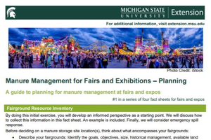 Manure Management for Fairs and Exhibitions – Planning