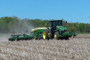Planting no-till soybeans