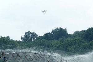 Camera or drone video can help identify center pivot sprinkler repairs