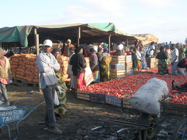 The Soweto wholesale market in Lusaka, Zambia.