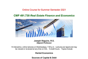 CMP 491: Special Topics: Real Estate Finance and Economics