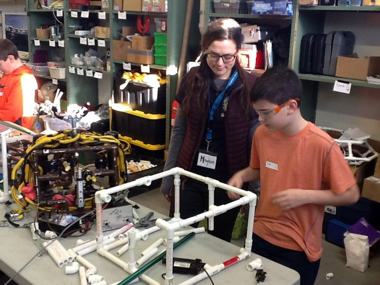 Building an underwater remotely operated vehicle (ROV) requires the use of mathematics and computational thinking.