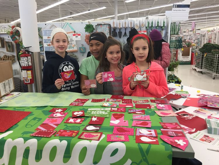 Kent County 4-H youth and volunteers made custom Valentine's Day cards which were donated to the Helen DeVos Children's Hospital in Grand Rapids. | Photo by Michigan State University Extension