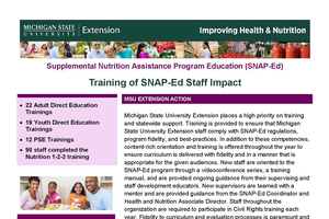 SNAP-Ed Staff Impact Report 2017-2018