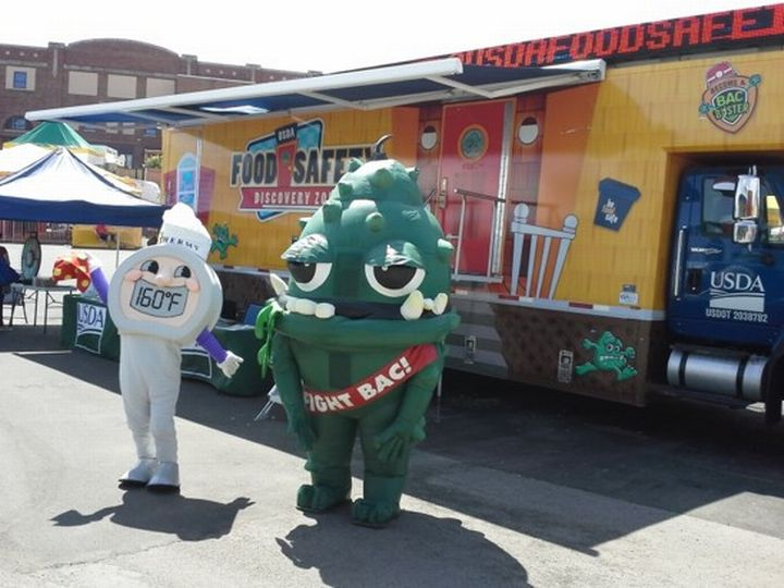 The Food Safety Discovery Zone offers fun activities that teach consumers how to prevent foodborne illnesses.