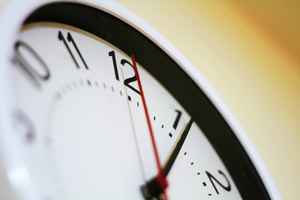 By ages 5 and 6, children start noticing time telling tools like clocks. Photo credit: Pixabay.