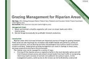 Grazing Management for Riparian Areas (E3101)