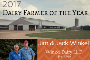 Jim and Jack Winkel named 2017 recipients of the MSU Dairy Farmer of the Year Award