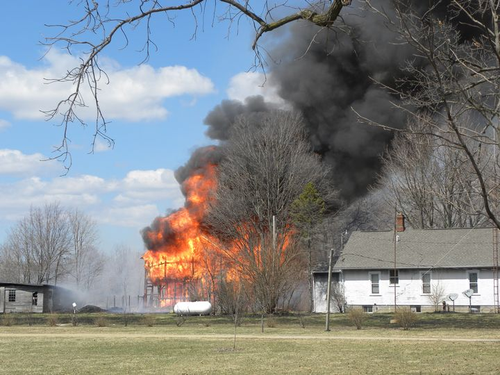 Springtime in Michigan: A wildfire tinderbox. Photo credit:Paul Garrod, Paw Paw Courier Leader April 4, 2014 l MSU Extension