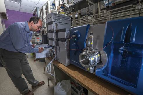 A state-of-the-art liquid chromatography-tandem mass spectrometer (LC-MS/MS) was installed at MSU in March 2015.