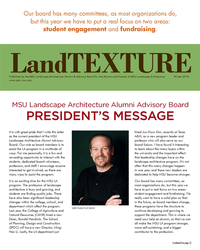 Front cover of the LandTEXTURE newsletter - Winter 2018.