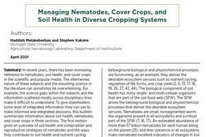 Managing Nematodes, Cover Crops, and Soil Health in Diverse Cropping Systems