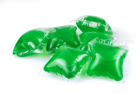 Colorful laundry detergent packets can be enticing and dangerous for young children. Photo credit: US Consumer Product Safety Commission | MSU Extension