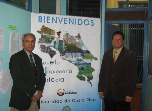 Ajit Srivastava (left), MSU professor of biosystems and agricultural engineering, helped start an international partnership with Jose Francisco Aguilar (right) from the University of Costa Rica.