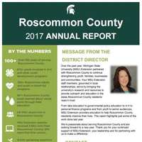 Cover of the Roscommon County Annual Report 2017-18