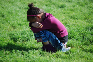 Show children how they can calm down when they are upset.