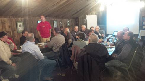 Spring 2016. Farmers gather together in Blissfield, Mich. to learn about options for protecting Lake Erie from polluted runoff.