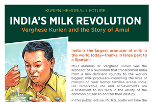 Flyer for R.S. Sodhi's lecture on Verghese Kurien
