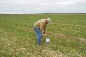 Soil sampling on a Chippewa County farm.