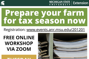"New edition of ""Prepare your farm for tax season now"" webinar to be held on Dec. 1"