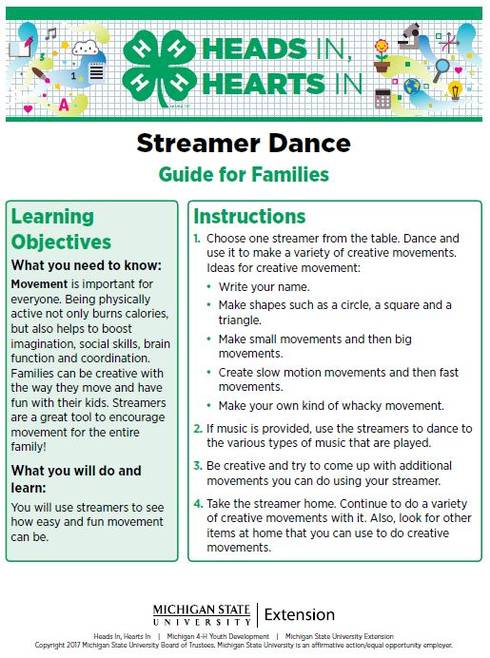 Streamer Dance cover page.