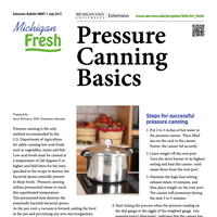 First page of the Pressure Canning Basics.