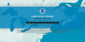 Screen shot of the front page of the new online Lake Level Viewer. | NOAA