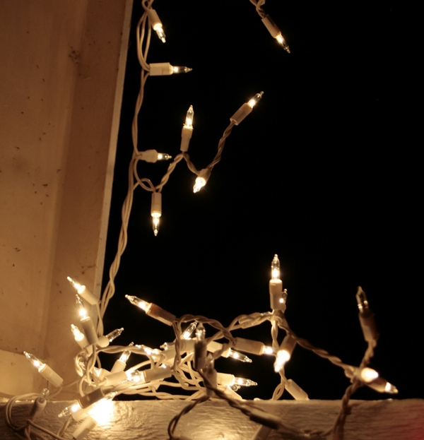 during the holidays, many people like to be festive decorating with lights  – strands of light to be precise  the lights may be wrapped around a tree,